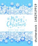 christmas greeting card with... | Shutterstock .eps vector #1482919919