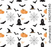 vector seamless pattern with... | Shutterstock .eps vector #1482935540