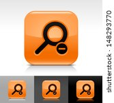 loupe icon set. orange color...
