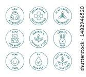 vector set of design elements ... | Shutterstock .eps vector #1482946520