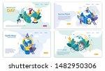 informational banner set... | Shutterstock .eps vector #1482950306