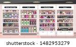 empty cosmetics store flat... | Shutterstock .eps vector #1482953279
