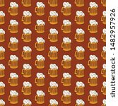 Beer Icons Seamless Vector...