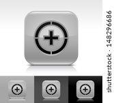 plus in circle icon. gray color ...