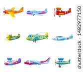 Set Of Airplanes Aircraft...