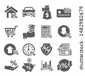 loan and credit icons on white... | Shutterstock .eps vector #1482982679