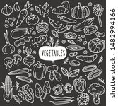 vegetables doodle drawing... | Shutterstock .eps vector #1482994166