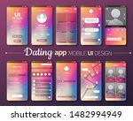dating app mobile ui design...