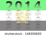 calendar design for 2014 with... | Shutterstock . vector #148300850