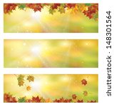 vector autumn banners. | Shutterstock .eps vector #148301564
