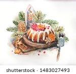 Christmas Watercolor Still Life ...