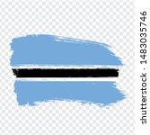 flag republic of botswana from...