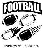 American football design elements. EPS 10 vector, grouped for easy editing. No open shapes or paths.