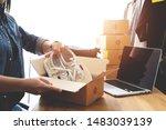 online selling e commerce... | Shutterstock . vector #1483039139