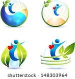 healthy lifestyle symbol...   Shutterstock . vector #148303964