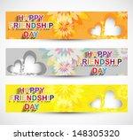 happy friendship day three... | Shutterstock .eps vector #148305320