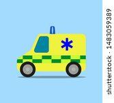 emergency ambulance  green and... | Shutterstock .eps vector #1483059389