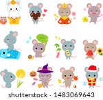 12 month event in japan with...   Shutterstock .eps vector #1483069643