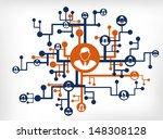 social network  | Shutterstock .eps vector #148308128