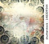 grunge music illustration | Shutterstock . vector #148309544