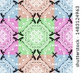 colorful seamless pattern for... | Shutterstock . vector #1483124963