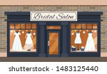 vintage wedding shop store... | Shutterstock .eps vector #1483125440