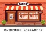 vintage butcher shop store... | Shutterstock .eps vector #1483125446