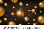 golden molecules vector design. ... | Shutterstock .eps vector #1483134590