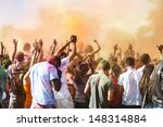 celebrants dancing during the... | Shutterstock . vector #148314884