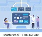 biochemistry research flat... | Shutterstock .eps vector #1483161980