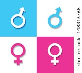 male and female symbol stock... | Shutterstock .eps vector #148316768