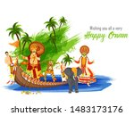 wishing you all a very festival ... | Shutterstock .eps vector #1483173176