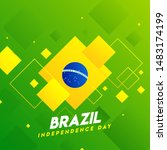 brazil independence day... | Shutterstock .eps vector #1483174199