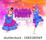 garba night party celebration... | Shutterstock .eps vector #1483180469