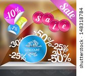 sale poster with percent... | Shutterstock .eps vector #148318784