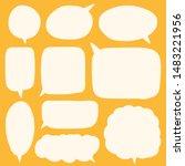 hand drawn speech bubble vector ... | Shutterstock .eps vector #1483221956