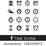 time and clock set icons.  | Shutterstock .eps vector #1483243073
