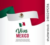 viva mexico independence day... | Shutterstock .eps vector #1483249256