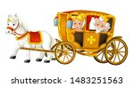 Cartoon Carriage With King And...