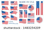 usa flags collection vector best   Shutterstock .eps vector #1483254209