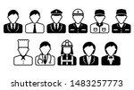 worker avatar icon illustration ... | Shutterstock .eps vector #1483257773