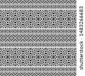 ikat ethnic aztec pattern... | Shutterstock .eps vector #1483266683