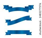 blue ribbons set.vector ribbon... | Shutterstock .eps vector #1483277576