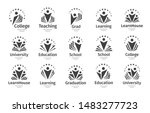 set of education vector icon.... | Shutterstock .eps vector #1483277723