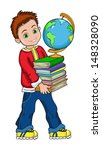 illustration  of boy student... | Shutterstock .eps vector #148328090