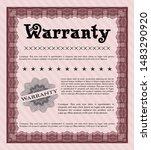 red vintage warranty template.... | Shutterstock .eps vector #1483290920