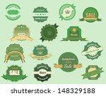 retro labels vector design | Shutterstock .eps vector #148329188
