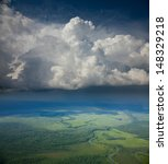 aerial view of the rain clouds... | Shutterstock . vector #148329218