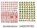 set of mandatory sign  hazard... | Shutterstock .eps vector #1483295783