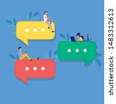 speech bubbles for comment anf...   Shutterstock .eps vector #1483312613
